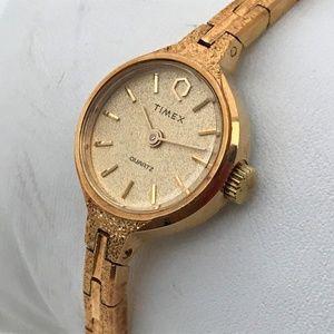 Timex Ladies Watch Swiss Movement Gold Tone Analog